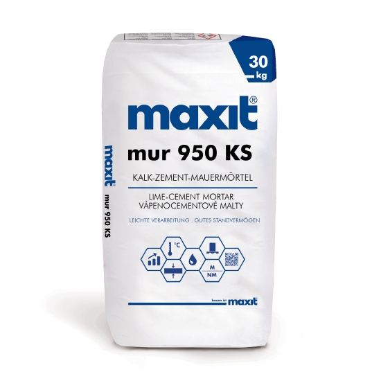 maxit mur 950 KS Kalk-Zement-Mauermörtel für Kalksandsteine