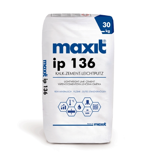 maxit ip 136 Kalk-Zement-Leichtputz, mineralisch
