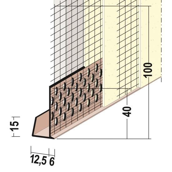maxit Einfassprofil für Wandschutzplatte
